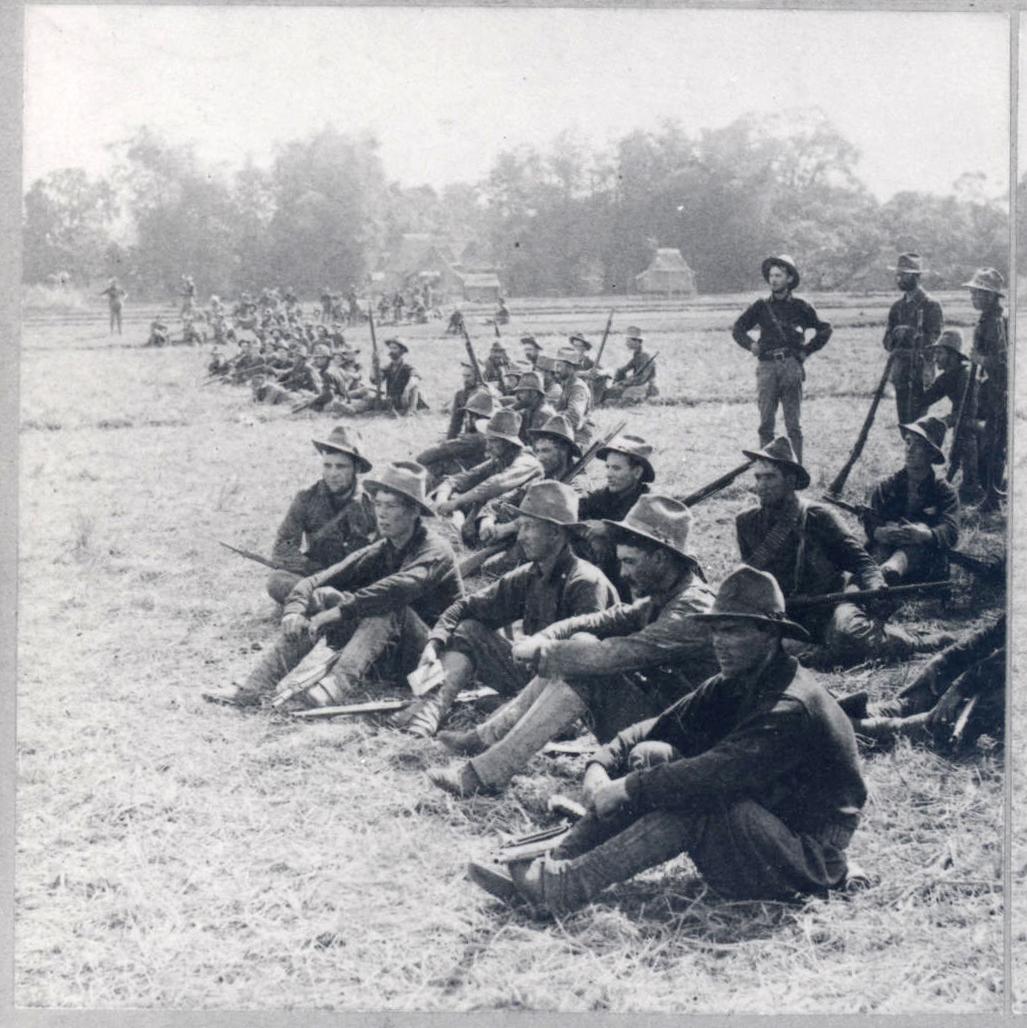 Oregon volunteers in Malabon, March 26, 1899