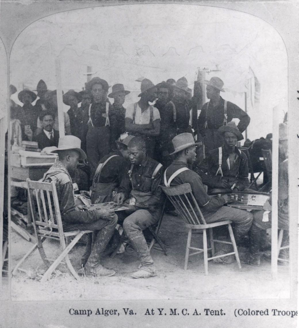 Black troops based in Virginia, c.1899