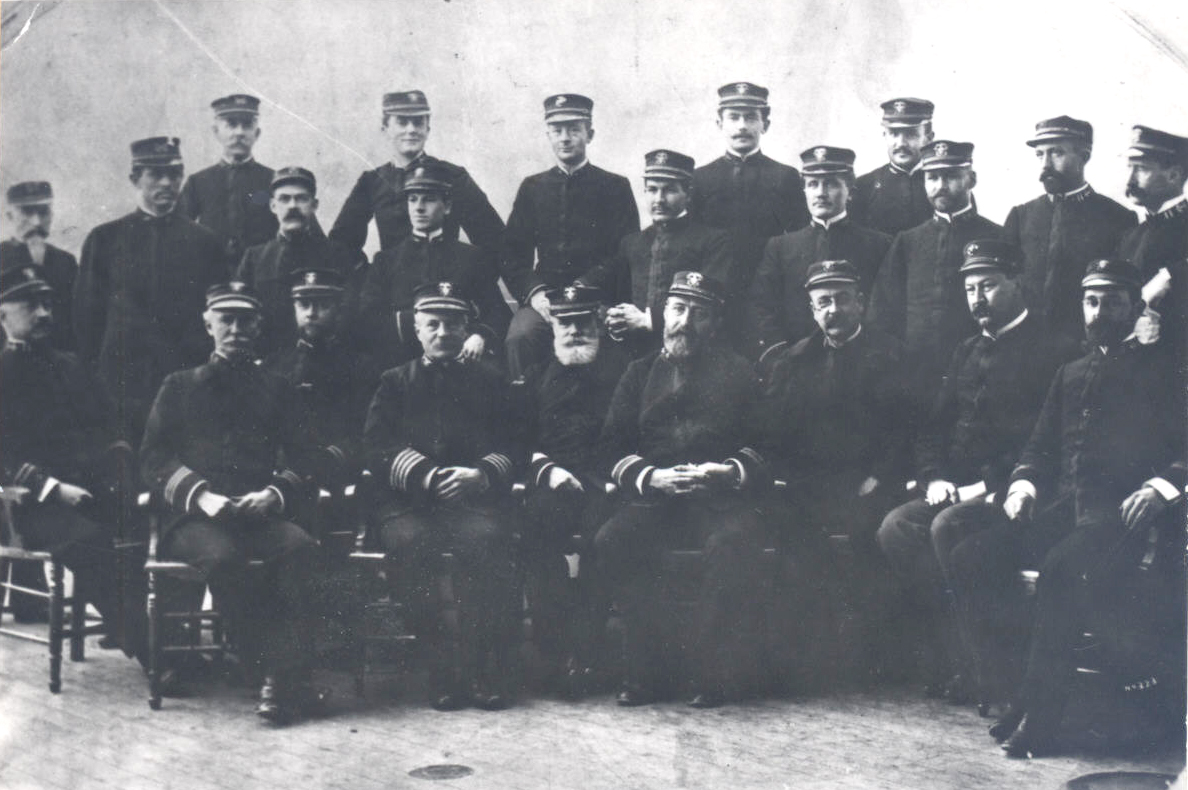 Captain and officers of the U.S.S. Oregon, 1897