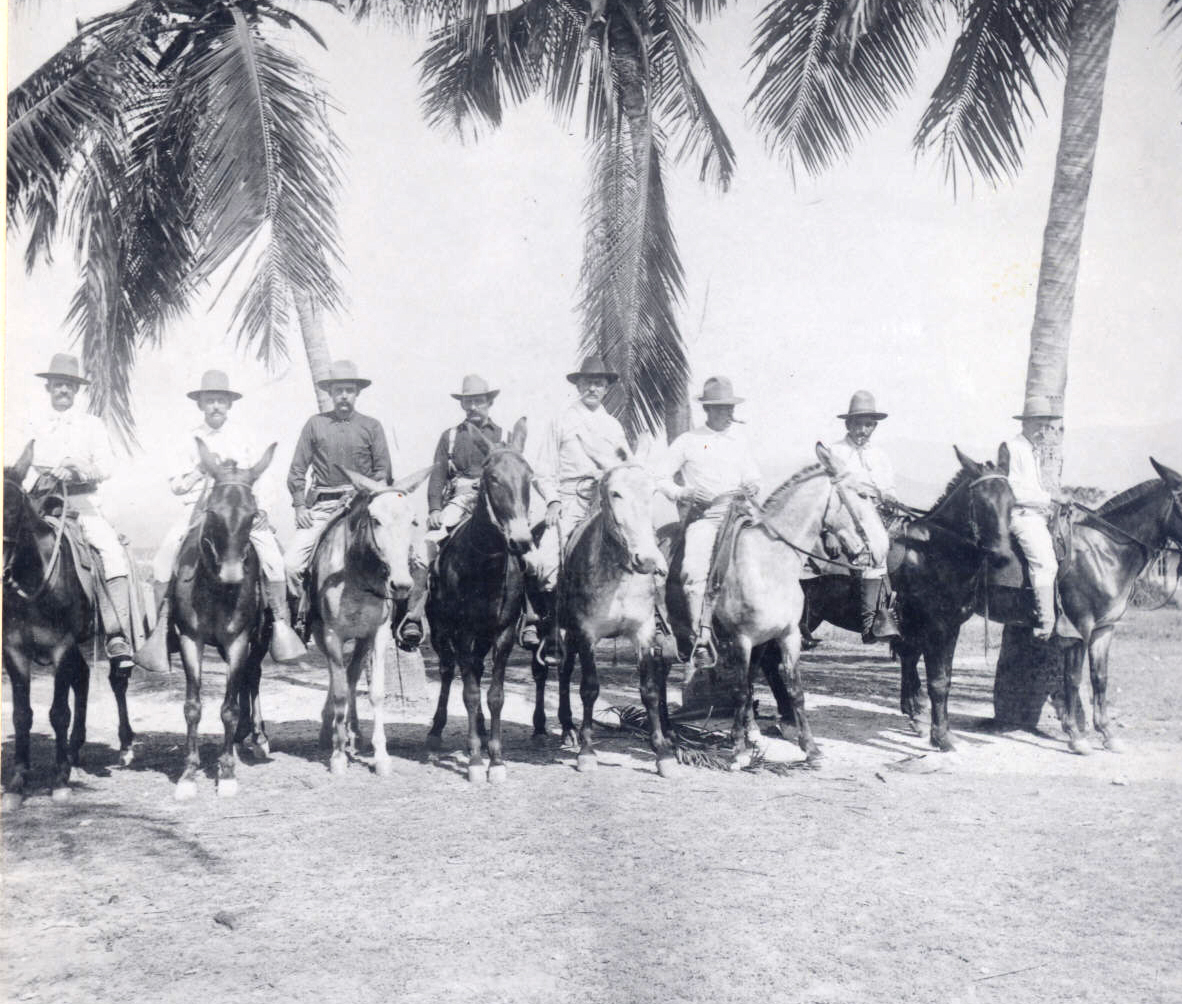 American train masters in Santiago, Cuba