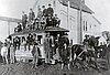 Last Albany horsecar trip, car no. 1 at 2nd and Lyon, 1909.