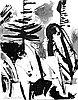 """Louis Bunce, """"Coast Landscape"""" (oil wash), won purchase prize in Oregon Art Show, Sep. 1954."""
