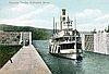 Steamer in Cascade Locks, Columbia River.