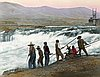 Fishing at Celilo Falls.