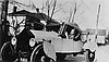 M. Lowell Edwards in home-built Model T Ford, 1920.