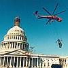Replacement of the Statue of Freedom from the Capitol dome, Washington D.C., 1993.