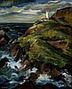 """""""Heceta Lighthouse, Oregon Coast"""" by Constance Fowler, about 1938."""
