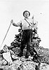 Henry Haefner on summit of Preston's Peak in the Siskiyou National Forest.