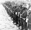 Soldiers from one of the all-black army regiments, which became known as the Buffalo Soldiers.