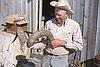 Reub Long at his ranch near Fort Rock Cave, 1966.
