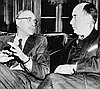 Richard Neuberger (l) with Adlai Stevenson, 1954.