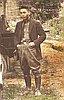 Tamakichi Ogura at hop yard near Independence, 1922.