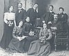 The Talent (Tallant) family, c. 1900. A.P Talent seated on right