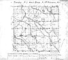 1851 cadastral map of T7S, R1W, includes the northwest portion of Waldo Hills, with Silverton at northern boundary.