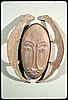 "John Hoover's ""Weasel Spirit Mask"" sculpture in western red cedar, 1991."