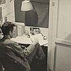 William Everson in his office, Civilian Public Service Camp #56