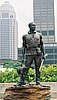 Statue of William Clark's slave York, a member of the Lewis and Clark Expedition of 1804-1806. The statue is installed in Louisville, Kentucky.