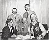 Old Oregon Trail Centennial commission, Philip Parrish, Charles Renolds, Leo Adler, Francis Lambert, Walter Meacham.