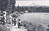 Tourists at Diamond Lake, 1940