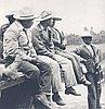 Mexican men attending a celebration at Oaks Park, 1944