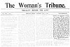 Letter to the Editor, Unjust to Women, 1908 // Woman's Tribune, May 9, 1908