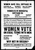 Women's Suffrage Handbill // Mss 1534